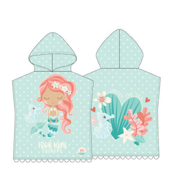 Baby Mermaid Exmouth Poncho Towel