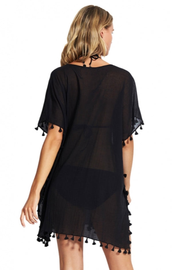 Beach Basics Amnesia Kaftan - Black