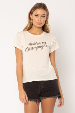 Champagne Tee - Vintage White