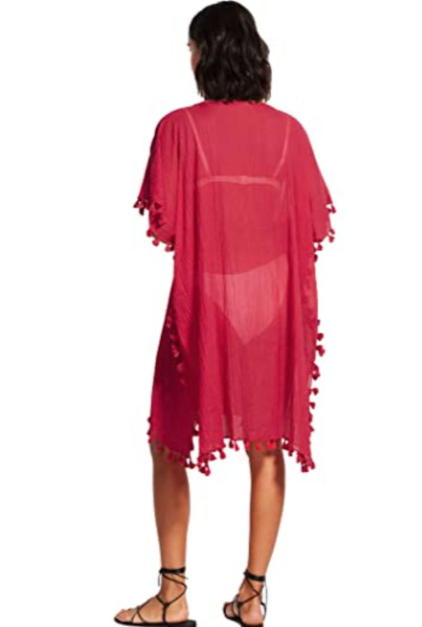 Beach Basics Amnesia Kaftan - Rouge
