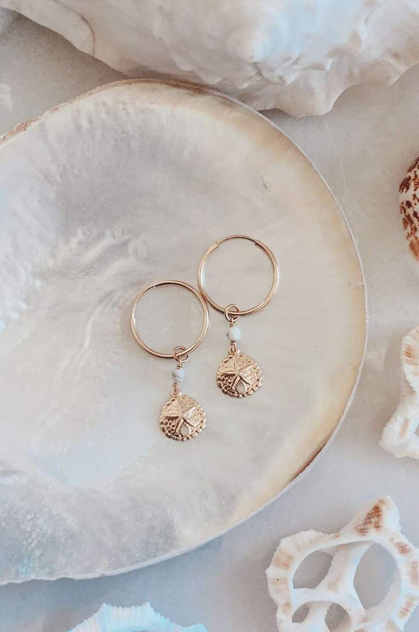 Gold FIll Sand Dollar Hoops