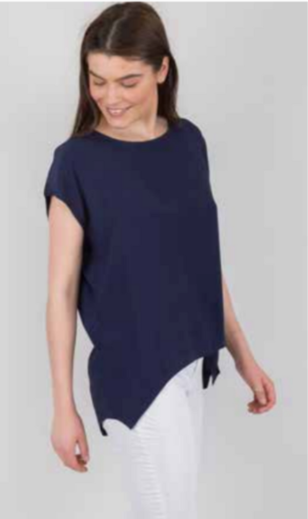 Boho Jane Scoop Tee - Navy - Idaho Boutique