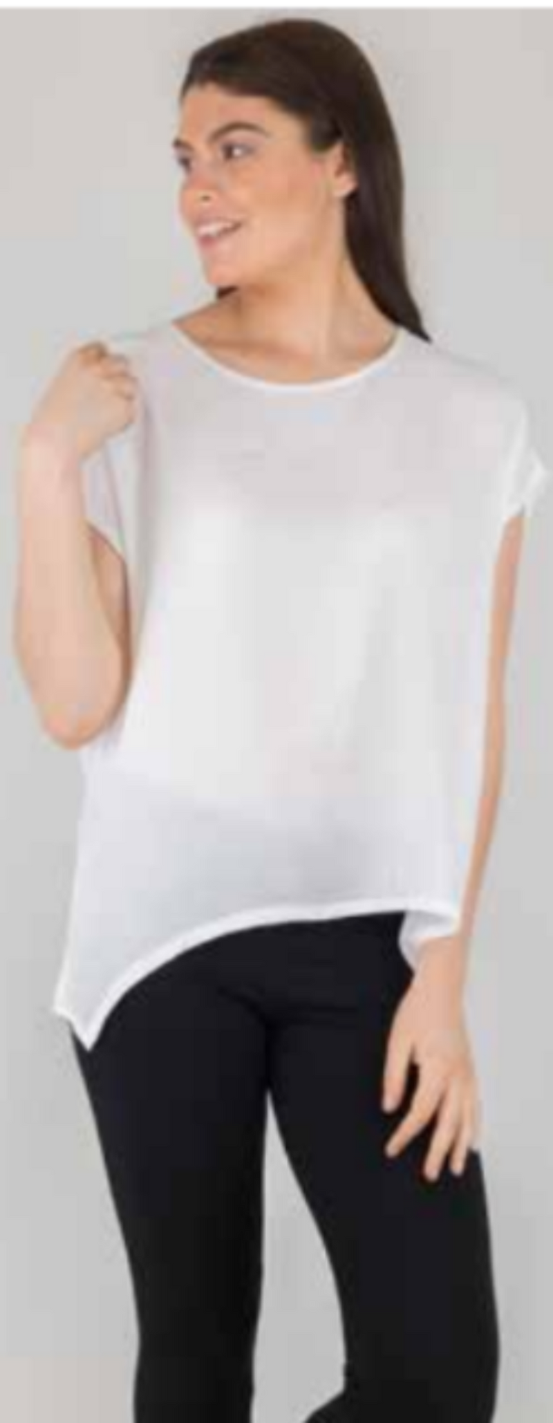 Boho Jane Scoop Tee - White - Idaho Boutique