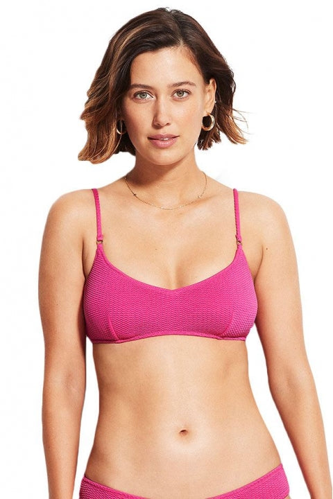 Sea Dive Bralette - fuchsia rose