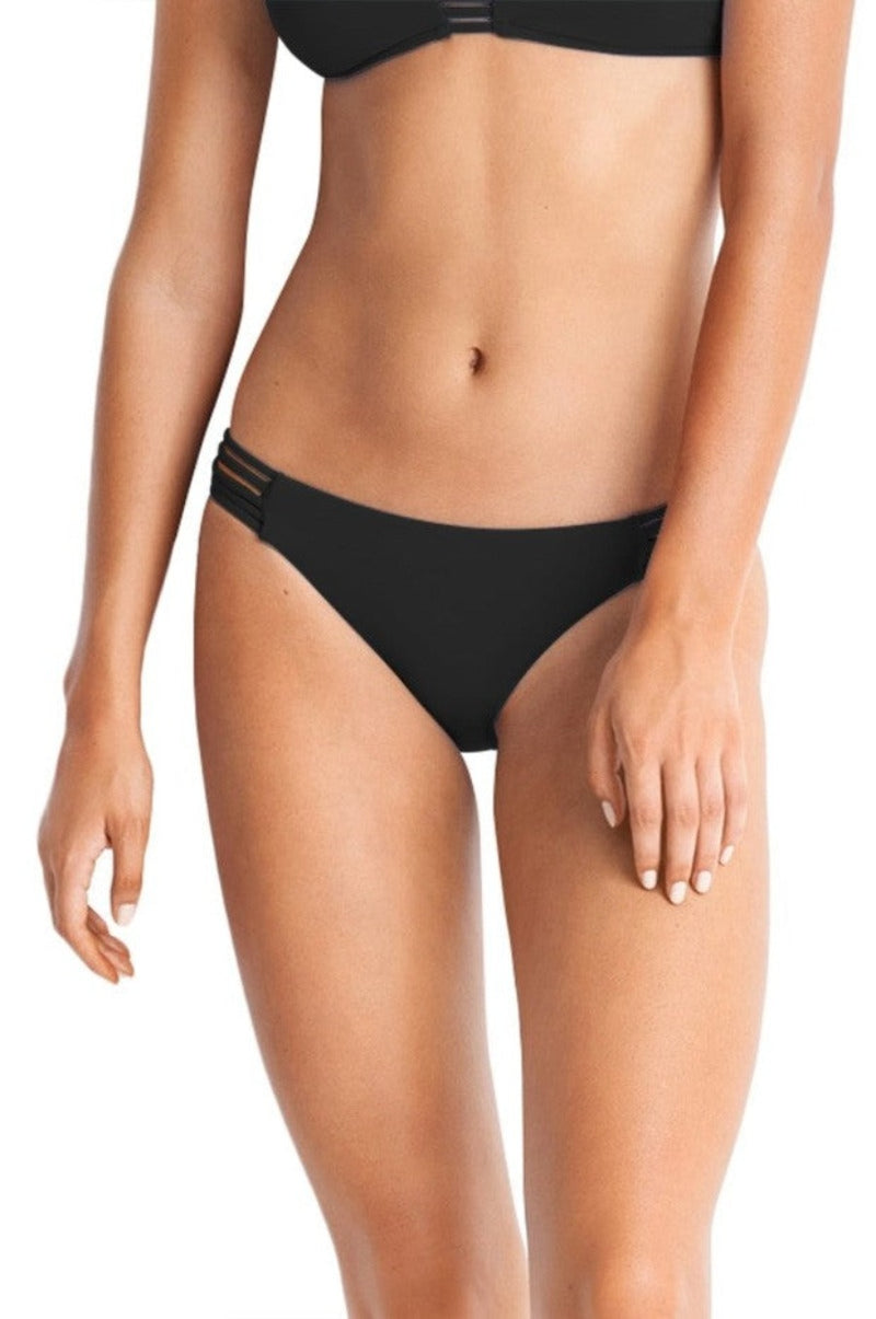 Seafolly Active Multi Rouleau Brazilian Bikini Pant - Black - Idaho Boutique
