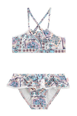 Seafolly Girls Candy Pop Apron Tankini