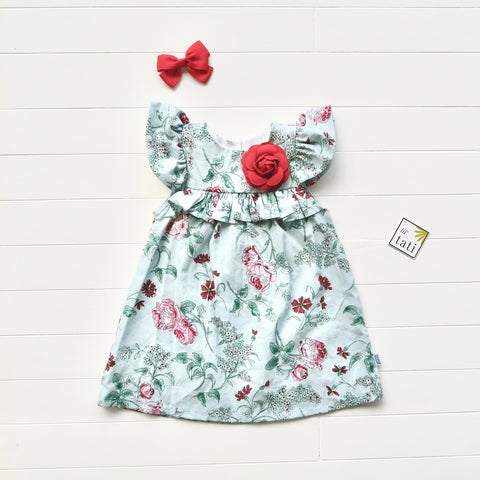 Magnolia Ruffle Bust in Mint Floral
