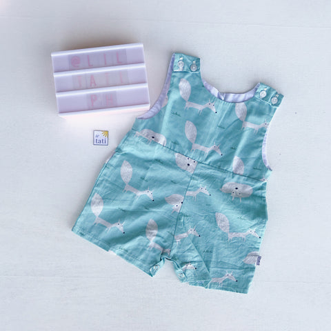 Oak Playsuit in Mint Fox Print-Lil' Tati