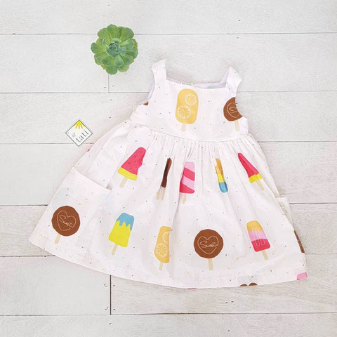 Poppy Dress in Popsicle Party Print - Lil' Tati