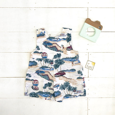Oak Playsuit in Beach Time Print