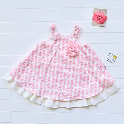 Blossom Dress in Pink Pineapple