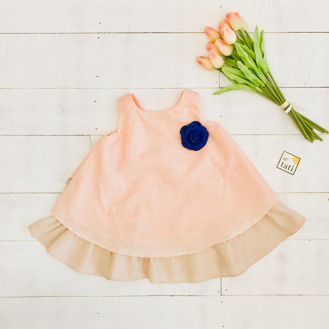 Blossom Dress in Peach Doodle
