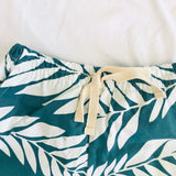 Caper Top & Shorts in Tahitian Leaves and White Stretch