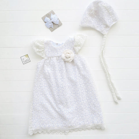 Magnolia Christening in Royal Eyelet Galaxy White-Lil' Tati
