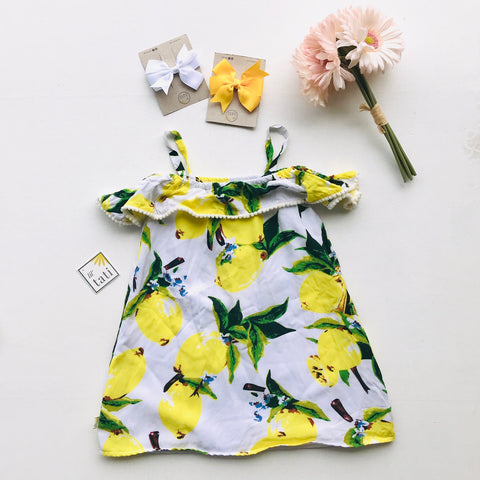 Clivia Dress in Very Lemon-Lil' Tati