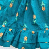 Dahlia Dress in Bluegreen Pineapple Print