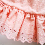 Daphne Dress in Peach Eyelet-Lil' Tati