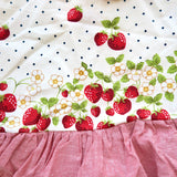 Holly Dress - Side Tie in Strawberry Polka and Red Linen
