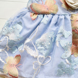 Iris Dress in Blue Butterfly Tulle-Lil' Tati