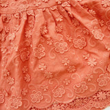 Iris Dress in Orange Floral Origami Eyelet-Lil' Tati