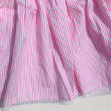 Iris Dress in Pinstripes Pink