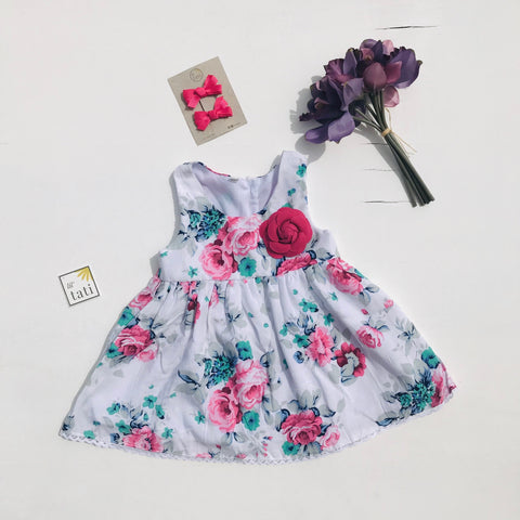 Iris Dress in Posh Flowers - Lil' Tati