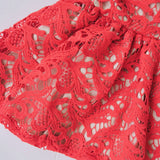 Iris Dress in Red Paisley Lace-Lil' Tati