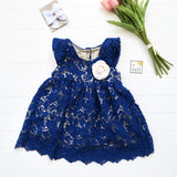 Lotus Dress in Blue Floral Lace-Lil' Tati
