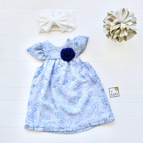Magnolia Dress in Aerial Blue-Lil' Tati