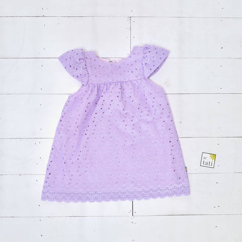 Magnolia Dress in Purple Eyelet