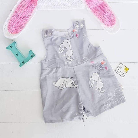 Oak Playsuit in Bunnies Gray - Lil' Tati