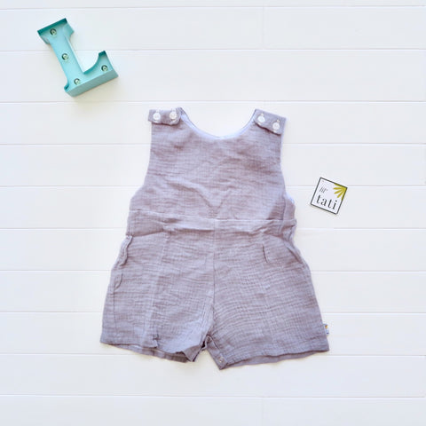 Oak Playsuit in Crepe - Gray