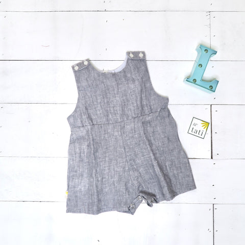 Oak Playsuit in Dark Gray Linen