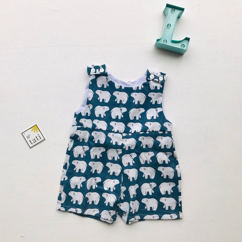 Oak Playsuit in Polar Bear-Lil' Tati