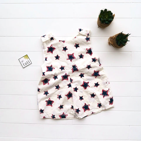 Oak Playsuit in Star Sketch-Lil' Tati