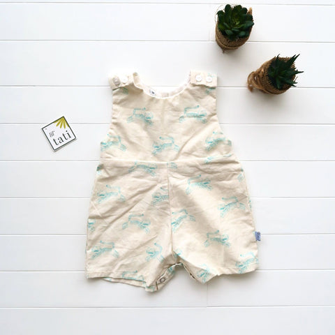 Oak Playsuit in Tiger Linen-Lil' Tati