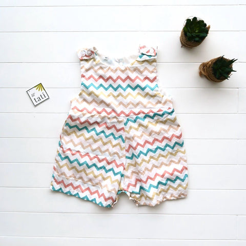 Oak Playsuit in Zigzag Print-Lil' Tati