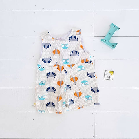 Oak Playsuit in Little Fox Print - Lil' Tati