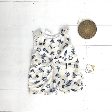 Oak Playsuit in Space Print-Lil' Tati
