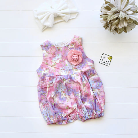 Orchid Playsuit in Magical Unicorn Print-Lil' Tati