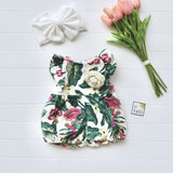 Orchid Playsuit - Ruffle Sleeves in Tropical Garden-Lil' Tati