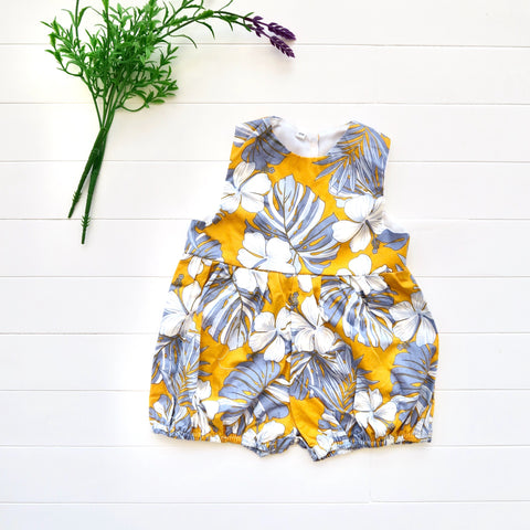 Orchid Playsuit in Aloha Yellow Print-Lil' Tati
