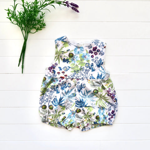 Orchid Playsuit in Botanical Garden Print-Lil' Tati