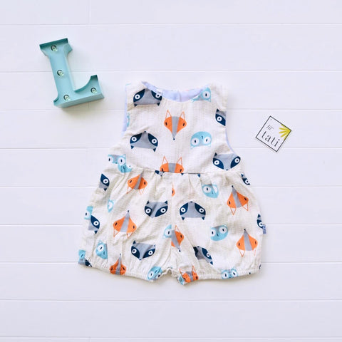 Orchid Playsuit in Little Fox Print