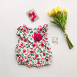 Orchid Playsuit - Ruffle Sleeves in Mini Watermelon-Lil' Tati