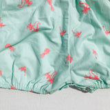 Orchid Playsuit - Ruffle Sleeves in Tropical Mint-Lil' Tati