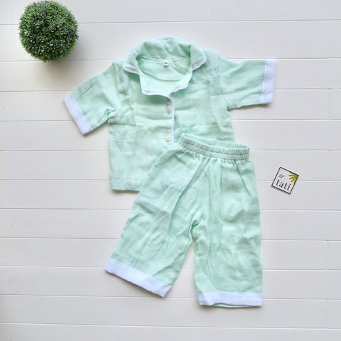 Pajama Set in Muslin - Mint-Lil' Tati