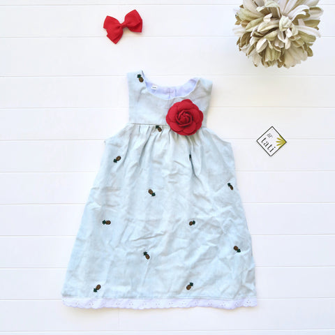 Peony Dress in Pineapple Soft Denim-Lil' Tati