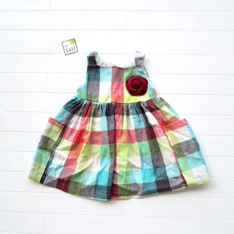 Poppy Dress in Playful Checkered Linen
