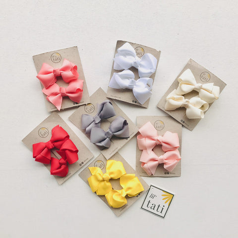 Puff Bow Hair Clips-Lil' Tati